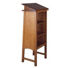 89-071 READER     WOOD SPECIES:  Oak    DIMENSIONS:  H5 W22 D14    DESCRIPTION:  Can be placed on top of Library Stand, 89-0072, or any other piece of furniture.