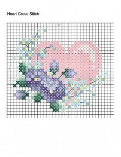 19 Ideas Embroidery Heart Pattern Design For 2019 Small Cross Stitch, Cross Stitch Heart, Cute Cross Stitch, Cross Stitch Flowers, Cross Stitch Designs, Cross Stitch Patterns, Embroidery Hearts, Cross Stitch Embroidery, Embroidery Patterns