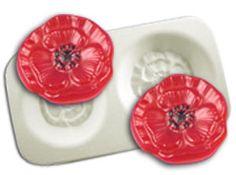Glass casting: Poppy Flowers Casting Mold