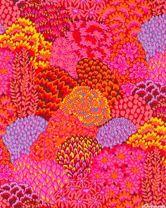 'Oriental Trees' from the 'Fall 2012' collection by Kaffe Fassett.