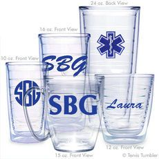 Personalized Emergency Medical Tech Tervis Tumblers @studioNotes
