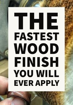 This is literally the fastest wood finish you will ever use. It goes on in about 30 seconds and it's dry instantly. It's like a magic trick for woodworkers. Woodworking Books, Woodworking Projects, Woodworking Beginner, Wooden Rings, Wood Working For Beginners, It Goes On, Painting On Wood, Wood Crafts, Wood Projects
