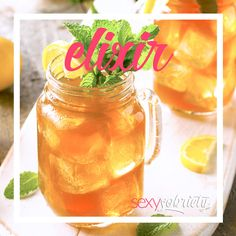 Lemon Mint Iced Tea Elixir.  Just a taste of what's to come. Sophisticated, sugar-free elixir recipes to keep your mouth deliciously occupied…