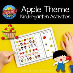 Apple Theme Kindergarten Boom Cards - 1+1+1=1 Kindergarten Teachers, Kindergarten Activities, Fun Activities, Apple Theme, Tot School, Early Childhood Education, Learn To Read, Classroom Organization, Apple Ideas