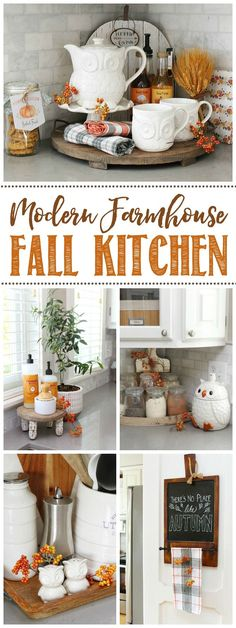 Refresh and decorate your kitchen for fall with these simple fall kitchen decor ideas! Click through for more fall home tours. Refresh and decorate your kitchen for fall with these simple fall kitchen decor ideas! Click through for more fall home tours. Fall Kitchen Decor, Fall Home Decor, Autumn Home, Diy Kitchen, Halloween Kitchen Decor, Kitchen Ideas, Rustic Fall Decor, Rustic Kitchen, Kitchen Storage