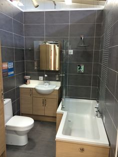 Bathroom sink and cabinet, and shower screen