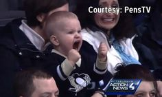 Buckle up Baby! Ice hockey superfan, aged two, who wears his heart on his sleeve and has become the unofficial mascot of the Pittsburgh Penguins #DailyMail