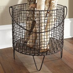 Wisteria - Accessories - Shop by Category - Office & Storage - Iron Mesh Basket - Large Large Wire Basket, Metal Baskets, Large Baskets, Wire Basket Decor, Copper Basket, Home Decor Accessories, Decorative Accessories, Accessories Shop, Decorative Accents