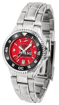 Miami University Of Ohio Redhawks Competitor Anochrome - Steel Band W/ Colored Bezel - Ladies - Women's College Watches by Sports Memorabilia. $87.08. Makes a Great Gift!. Miami University Of Ohio Redhawks Competitor Anochrome - Steel Band W/ Colored Bezel - Ladies