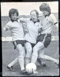 Elton John Pictured Playing Football At Watford Football Club