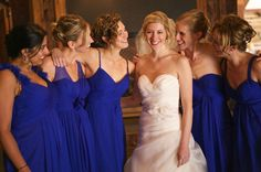 Beautiful blue and white winter wedding at Windham Mountain NY Ski Resort.  Thank you Joshua Brown Photography. (In this Photo:  blue dresses, blue bridesmaid dresses, blue wedding, blue and white, blue and white wedding, upstate ny, upstate ny wedding, winter wedding, fall wedding and wedding planner)