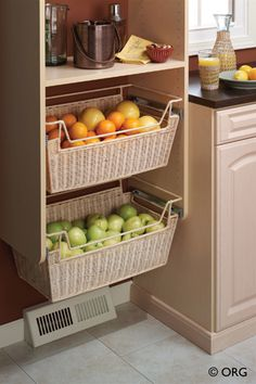 Pantry Organizers & Organization Systems | Great Spaces - Albuquerque, Santa Fe & Central New Mexico. I love these drawers. Excellent idea.