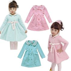Girl Kids Dress Top Skirt Toddler Long Sleeve 1-6Y Baby Party Clothes Lovely Dot