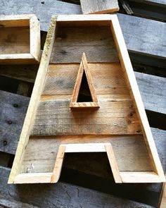 Pallet Letter Rustic Letter Reclaimed Wood Marquee di ShyWalrus