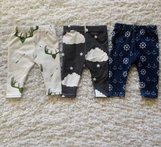 Newborn Baby Boy Organic Leggings Bundle (3 in 1)