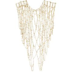Rosantica Chimera gold-tone pearl body chain