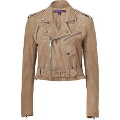 Ralph Lauren Collection Taupe Suede Jacket