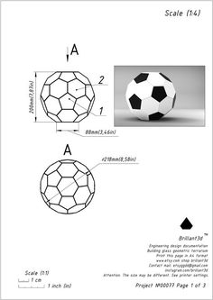 Drawings for creating hand mad a geometric glass soccer ball Tiffany style. Glass Planter, Glass Terrarium, Planters, Geometric Star, Pattern Drawing, Soccer Ball, Decorative Items, Simple Designs, Printables