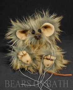Pebble a 5.5 inch Faux Fur Artist Mouse Bear by Bears of Bath #BearsofBath Faux Fur, Bears, Teddy Bear, Artist, Artists, Teddy Bears, Bear