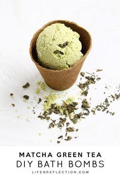 The Anatomy of a Matcha Green Tea Bath Bomb / How to Make Matcha Green Tea Bath Bombs
