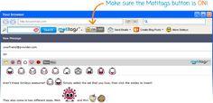 Pridať Motitags emotikony do svojej e-maily!