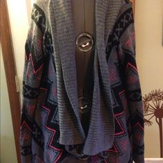 Open sweater tribal size medium This is a new without rages open sweater from Deb size medium Tops