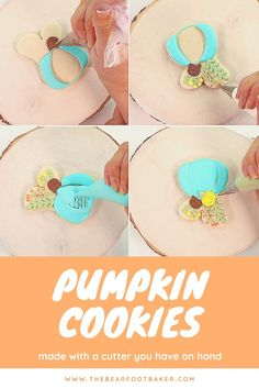 Are you looking for an easy pumpkin cookie to make this fall or Halloween? Try these beautiful and elegant pumpkin cookies! They are made with a bunny cookie cutter, which is sometimes easier to find than a pumpkin cutter. These pumpkin cookies make a beautiful addition to a fall cookie platter, a Halloween party, or as a fun treat to make with your kids! #thebearfootbaker #halloweencookies #pumpkincookies #halloweentreatideas Fall Cookies, Pumpkin Cookies, A Pumpkin, Sugar Cookies, Halloween Goodies, Halloween Treats, Halloween Party, Platter, Cookie Cutters