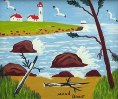 The small world and big influence of artist Maud Lewis - The Globe and Mail Maudie Lewis, Grandma Moses, Purple Themes, Sky Art, Naive Art, Outsider Art, Religious Art, Paintings For Sale, Folk Art