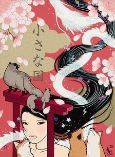 Beautiful Painting by Yumiko Kayukawa: CHIISANA KUNI (Small Country)