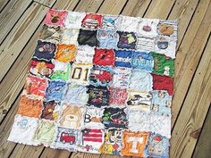 Quilt made out of onesies from baby's first year.