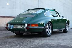 A beautiful Irish Green Porsche 911T hotrod.