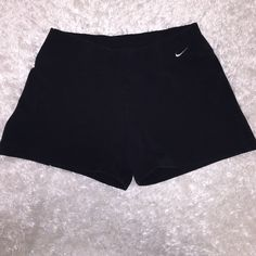Nike Spandex Like Shorts M Item - Cotton Spandex, as in they fit tightly to body but are cotton Brand - Nike Size - M Condition - good condition  Extra Information - great pair of tighter fitting Nike shorts, or wear as spandex underneath sweatpants!  Feel free to ask any other questions! ☺️ Nike Shorts