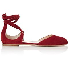 Gianvito Rossi Women's Pina Ankle-Tie D'Orsay Flats