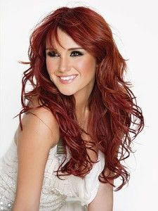 Beautiful shades of red hair dye