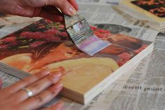 DIY Photo Transfers on Wood using gel medium with a laser printed picture