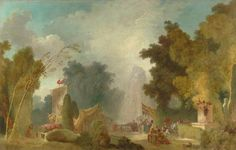 Jean-Honoré Fragonard - La Fête à Saint-Cloud
