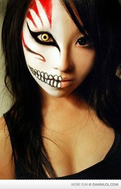 DIY Halloween Makeup : makeup make up beauty eyes eye shadow eyeshadow pretty beautiful goth gothic halloween bleach anime cosplay costume