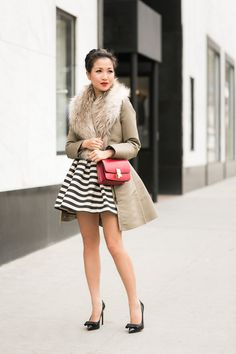 Date Night :: Striped dress