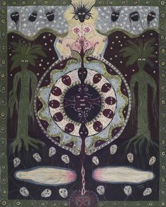 The Visionary Art of Solange Knopf Outsider Art, Naive, Illustrations, Illustration Art, Augustin Lesage, Kunst Der Aborigines, Art Visionnaire, Vision Art, Art Brut