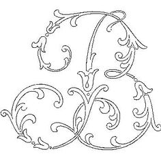 "Broderie D'Antan: Embroidery Patterns (22 Monograms of ""B"")"