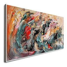 Amazon.com: Large Wall Canvas Painting Large Canvas Wall Oil Colorful Canvas Wall Art Abstract Canvas Wall Art Acrylic Pour Painting Contemporary Art: Handmade