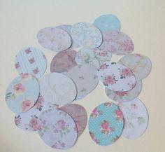 Card Egg Shapes for Card&Paper Crafts,Assorted Floral Print,100pk £1.30