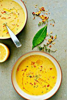 zucchini and walnut thyme soup