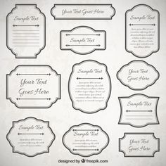 Vintage frames collection Free Vector
