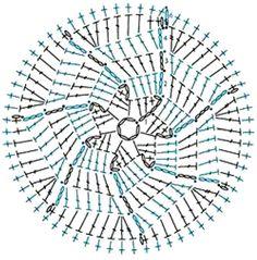 Crochet Motif Patterns, Crochet Blocks, Granny Square Crochet Pattern, Crochet Diagram, Freeform Crochet, Thread Crochet, Crochet Doilies, Crochet Flowers, Crochet Stars