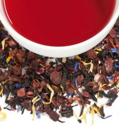 Birthday Tea combines luscious fruit and berry flavors with flowers to create a delightful and yummy crimson cup of tea worthy of a celebration.