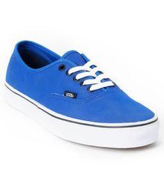 Vans Authentic Tough Poly Blue Skate Shoes d2e41dcd6