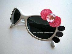 Meijo's Joy: 5 minutes DIY - Hello Kitty Sunglass