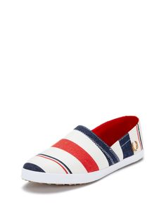 Kingston Stampdown Southsea Deckchair Stripe Sneakers by Fred Perry at Gilt