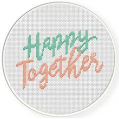 Happy Together Cross Stitch Illustration
